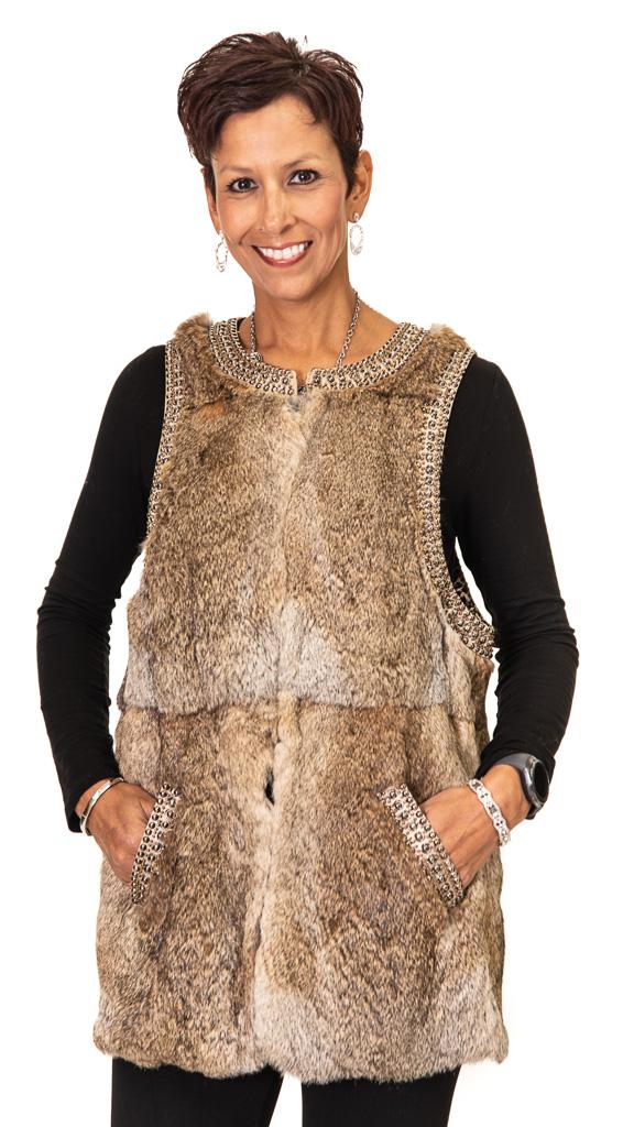 92 2 Rabbit Vest Ugent Furs