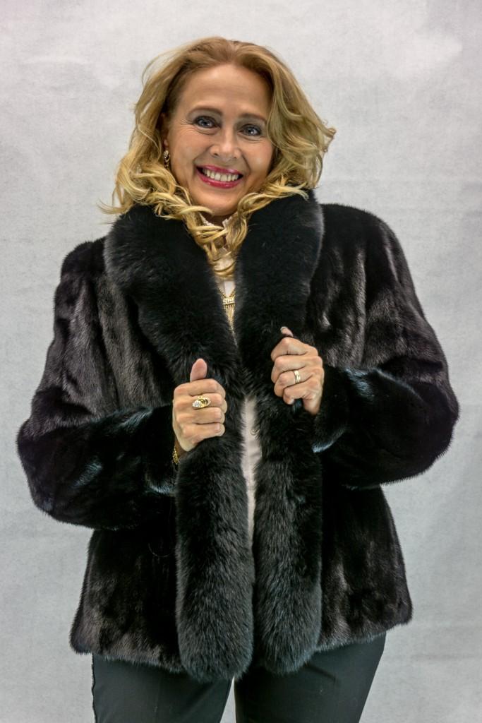 W3 black ranch letout female mink 25 jacket with black fox trim2