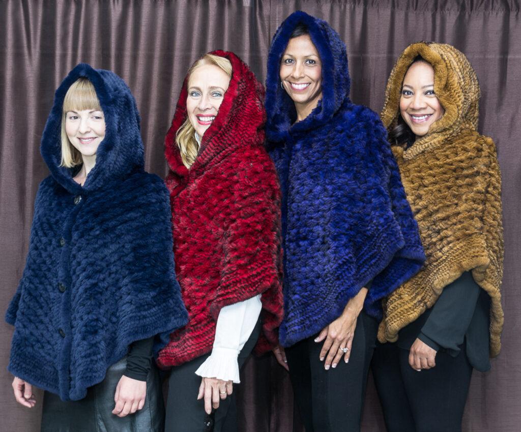 Ugent Furs fur poncho