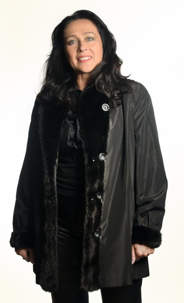 Black dyed 32 Sheared Mink Jacket with Black Mink Trim reverses to Black Taffeta Rain Silk2 e1480092550118