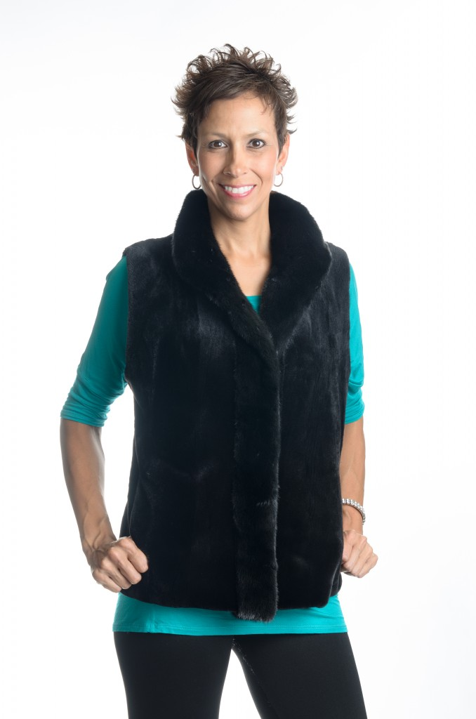 black dyed 24 sheared mink vest with natural ranch mink tuxedo1