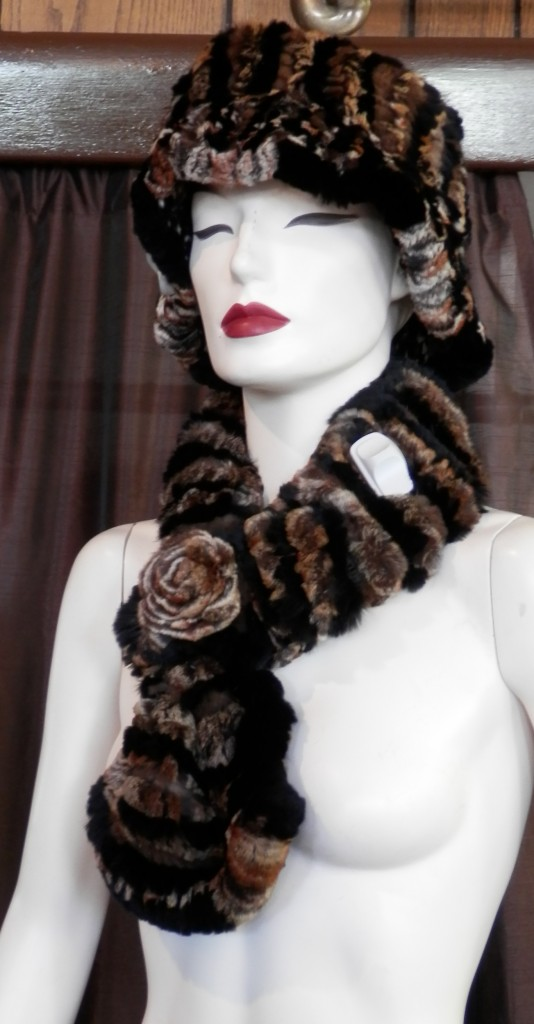 hat and scarf brown1