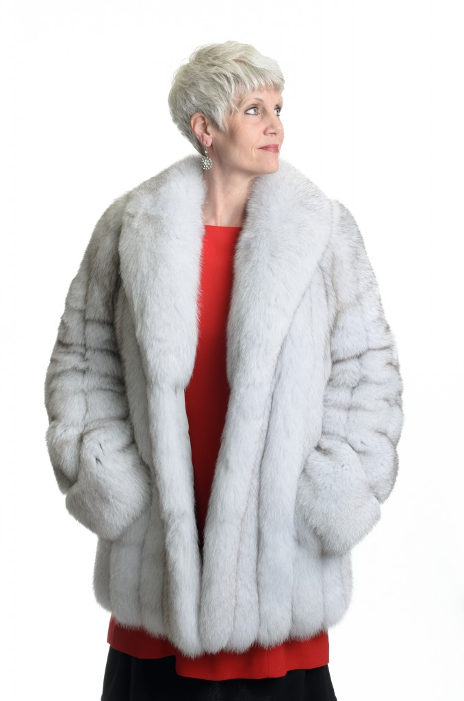 natural 29 norwegian blue fox jacket with swirl sleeve detail1