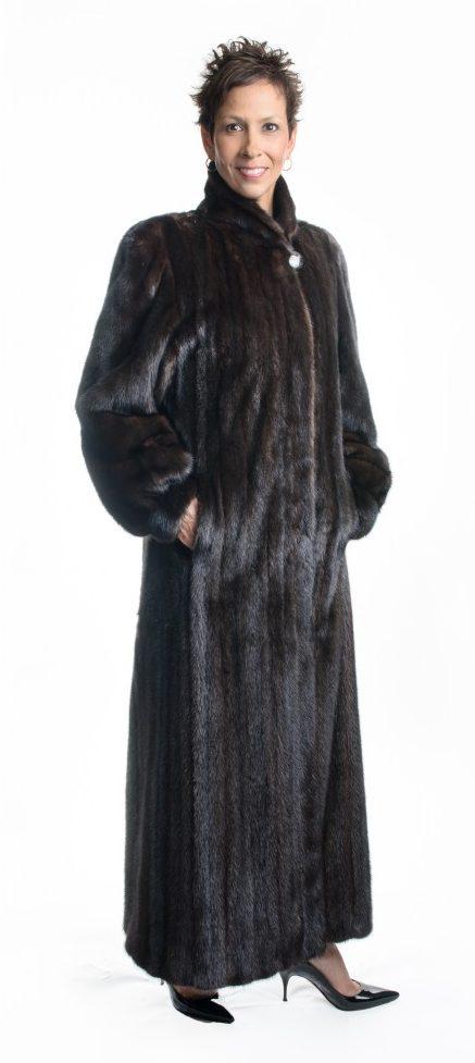 natural 52 brown mahogany letout female mink classic coat e1480111722562