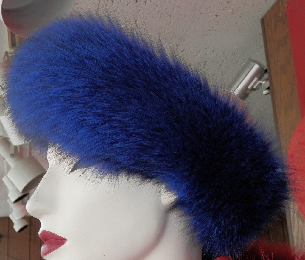 blue dyed fox headband1