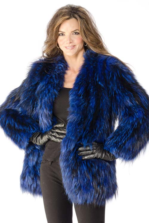 Bright Blue Fox Jacket 1