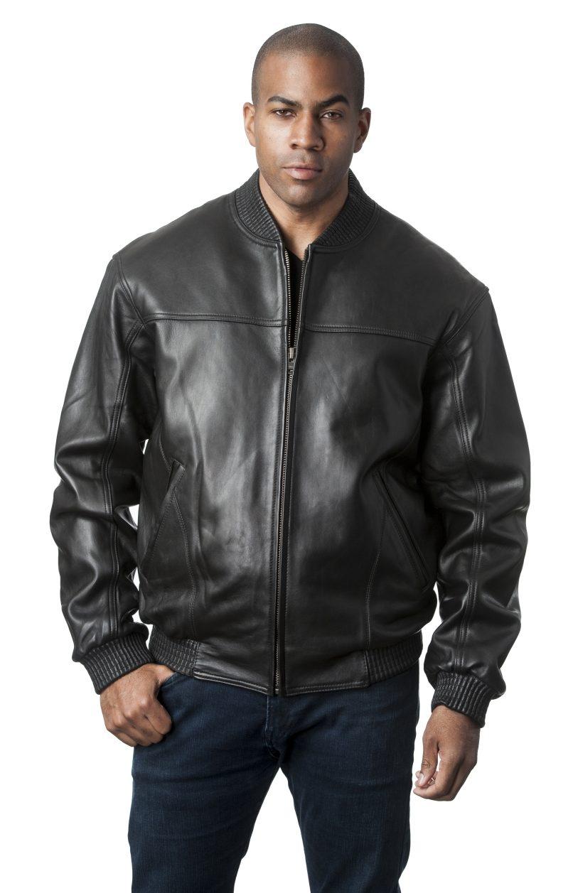 Black Leather Bomber Jacket2 e1478108987360