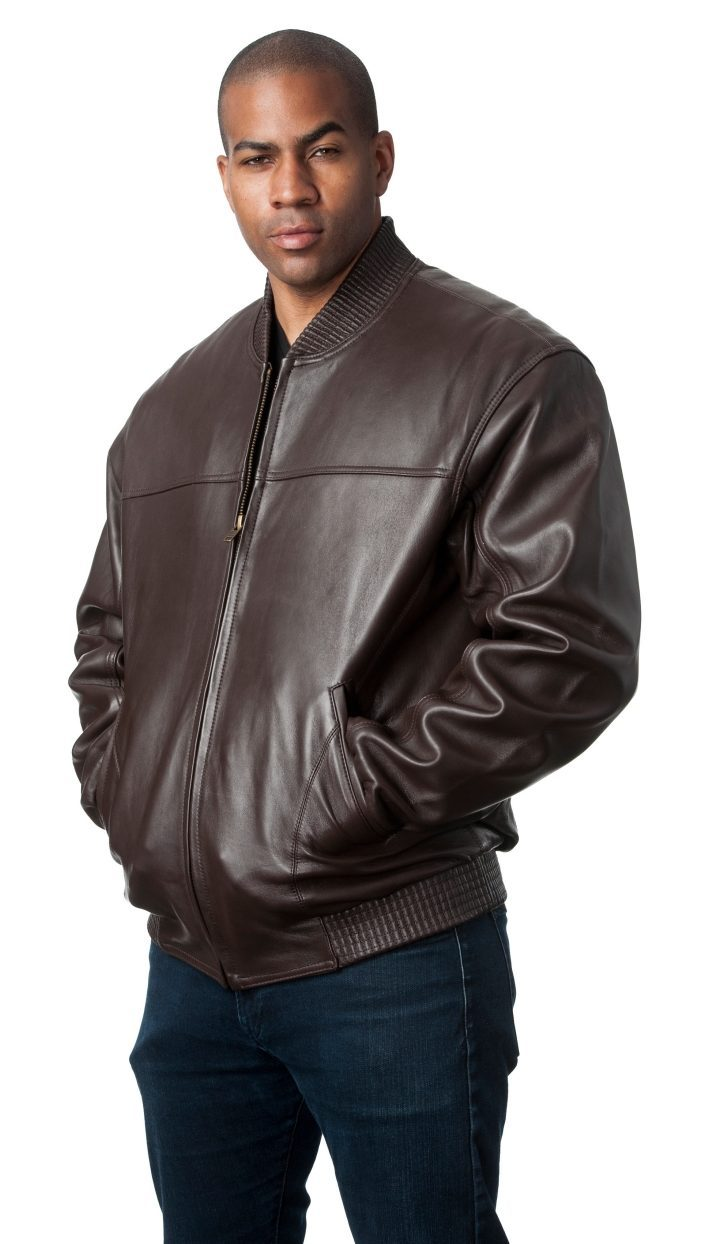 Brown Leather Bomber Jacket e1478108051423
