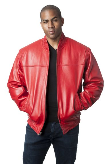 Red Leather Bomber Jacket e1478109182400