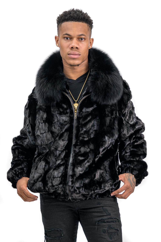 M15 2 Mans MInk Fur Jacket with Fox Collar