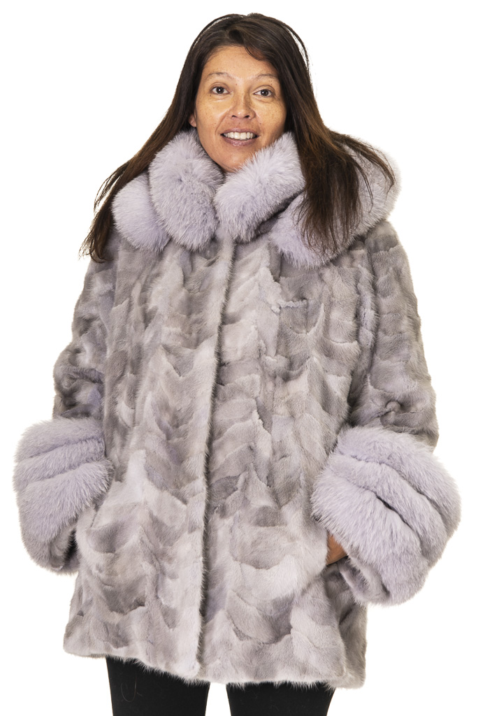 25 2 Mink Sections with Fox Ugent Furs