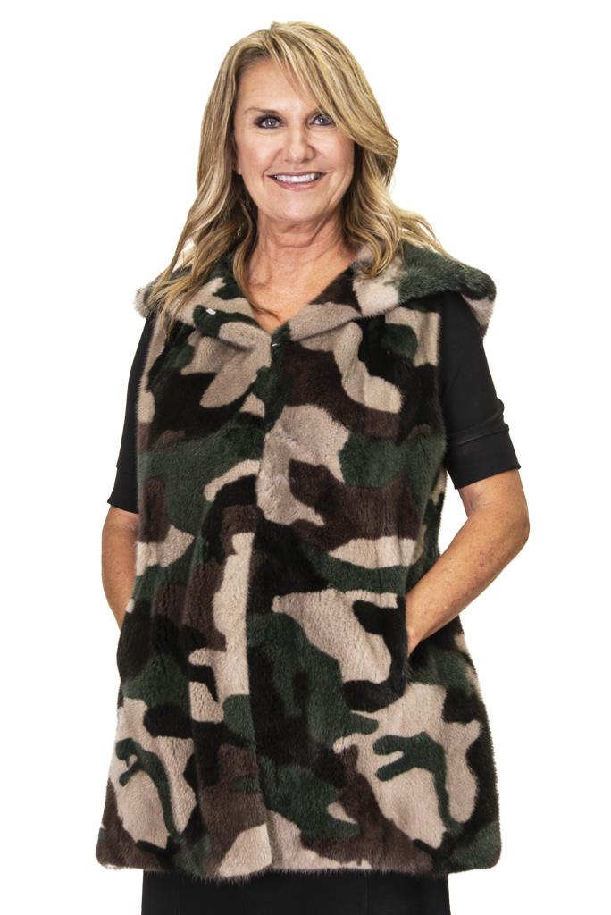 7 2 Camouflage Mink Vest Ugent Furs
