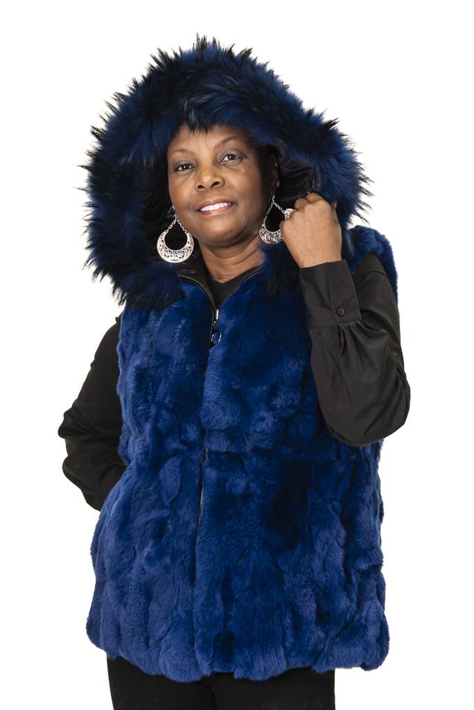 55 3 Rex Rabbit Vest Ugent Furs