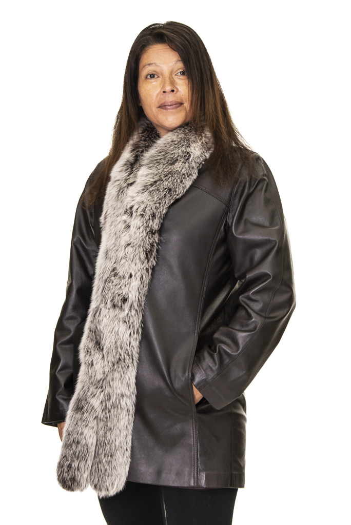 6 2 Leather with Fox Ugent Furs