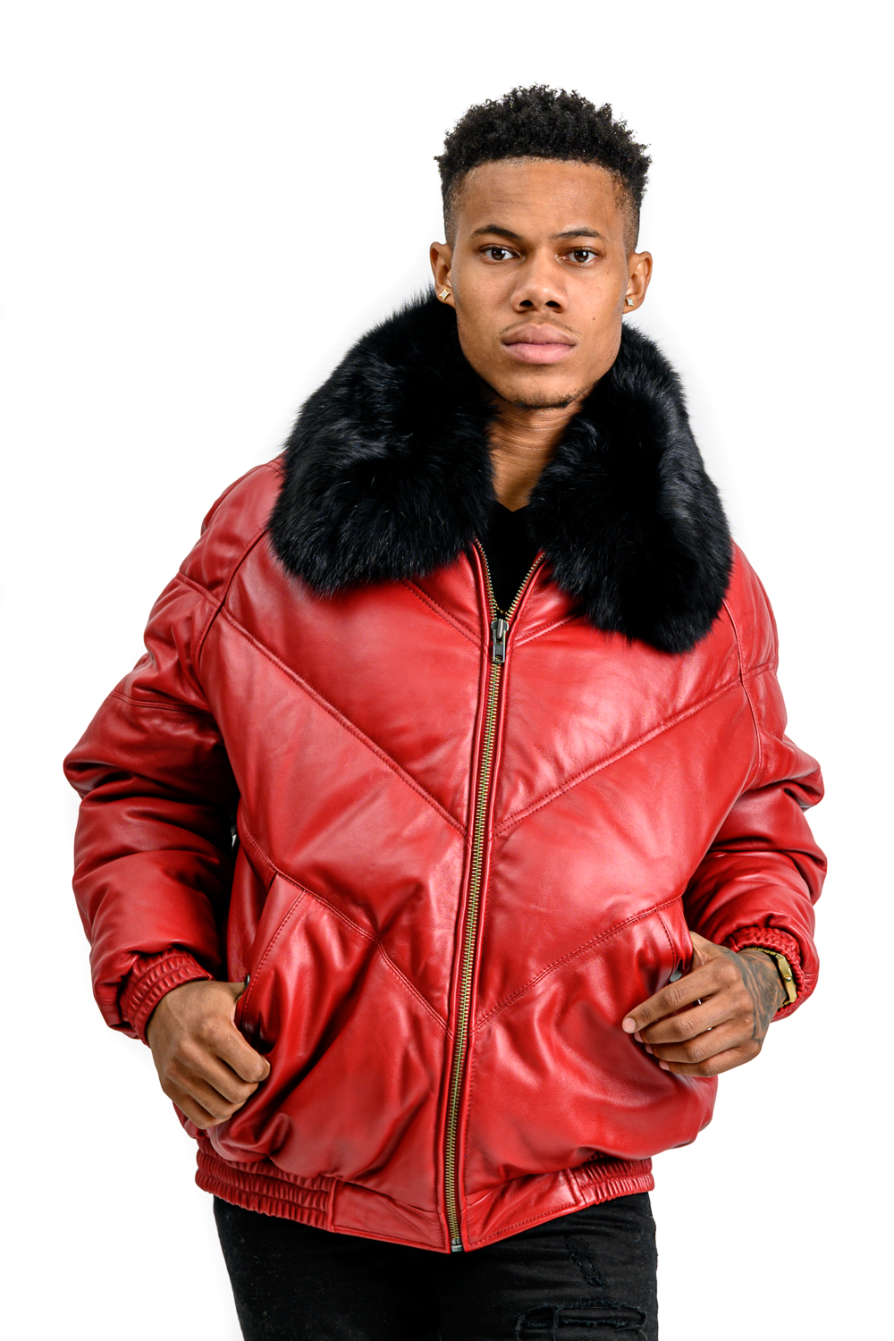M43 2 Mans Red Puffer with Fox Fur