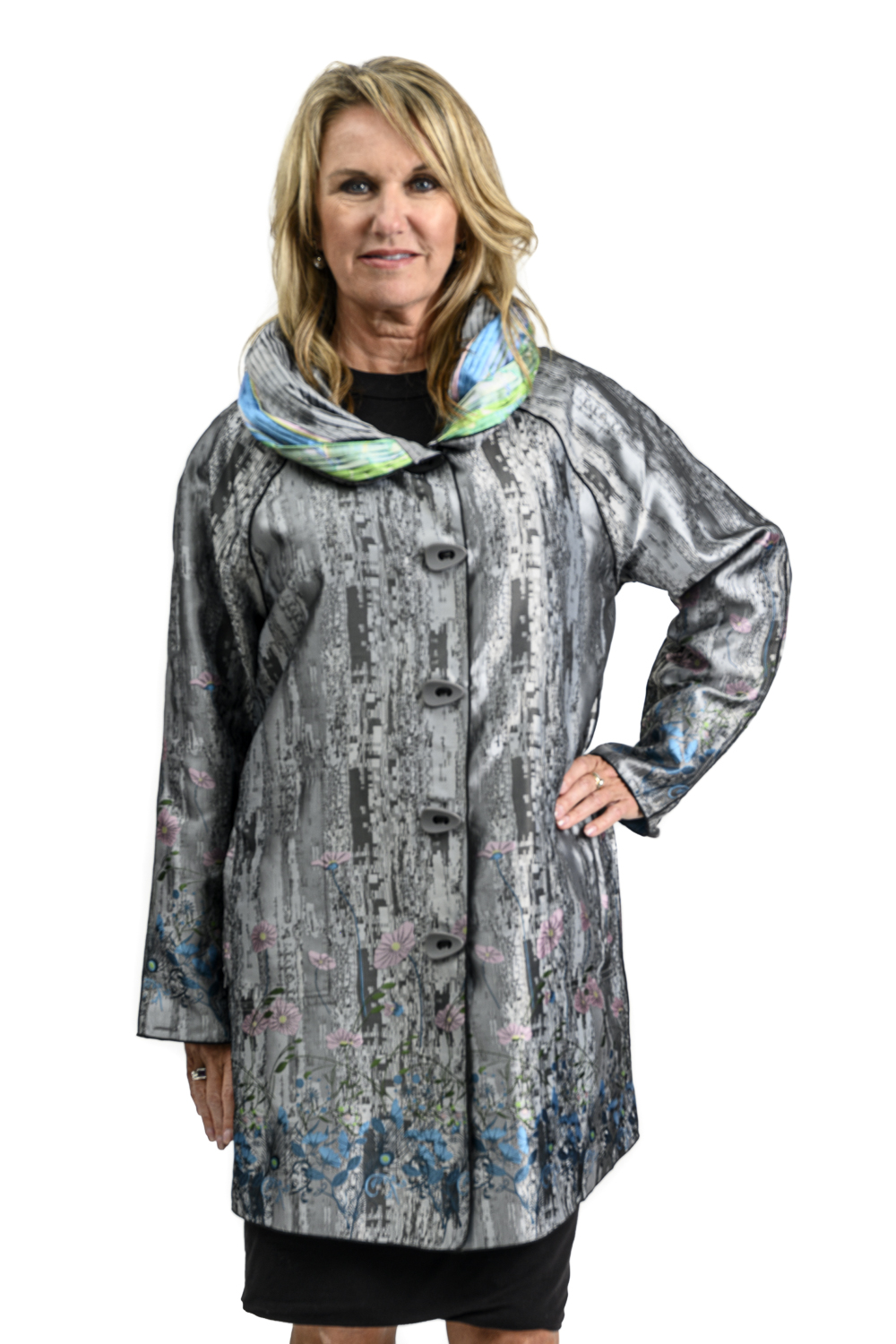 W85 2 UBU Reversible Raincoat Wildflowers