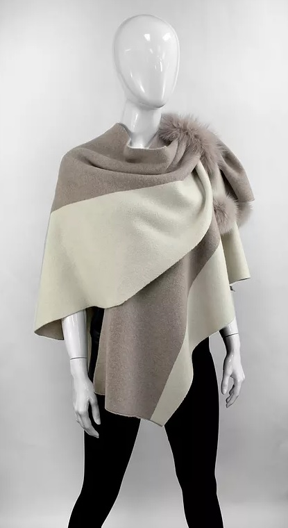Mitchies beige and ivory wrap