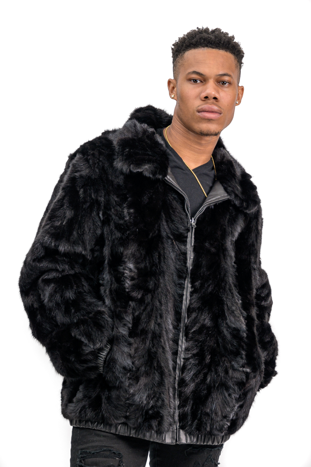 M3 2 Mans Reversible Mink Leather Coat