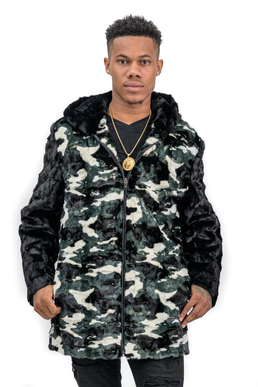M16 2 Mans Mink Camouflage Fur Jacket