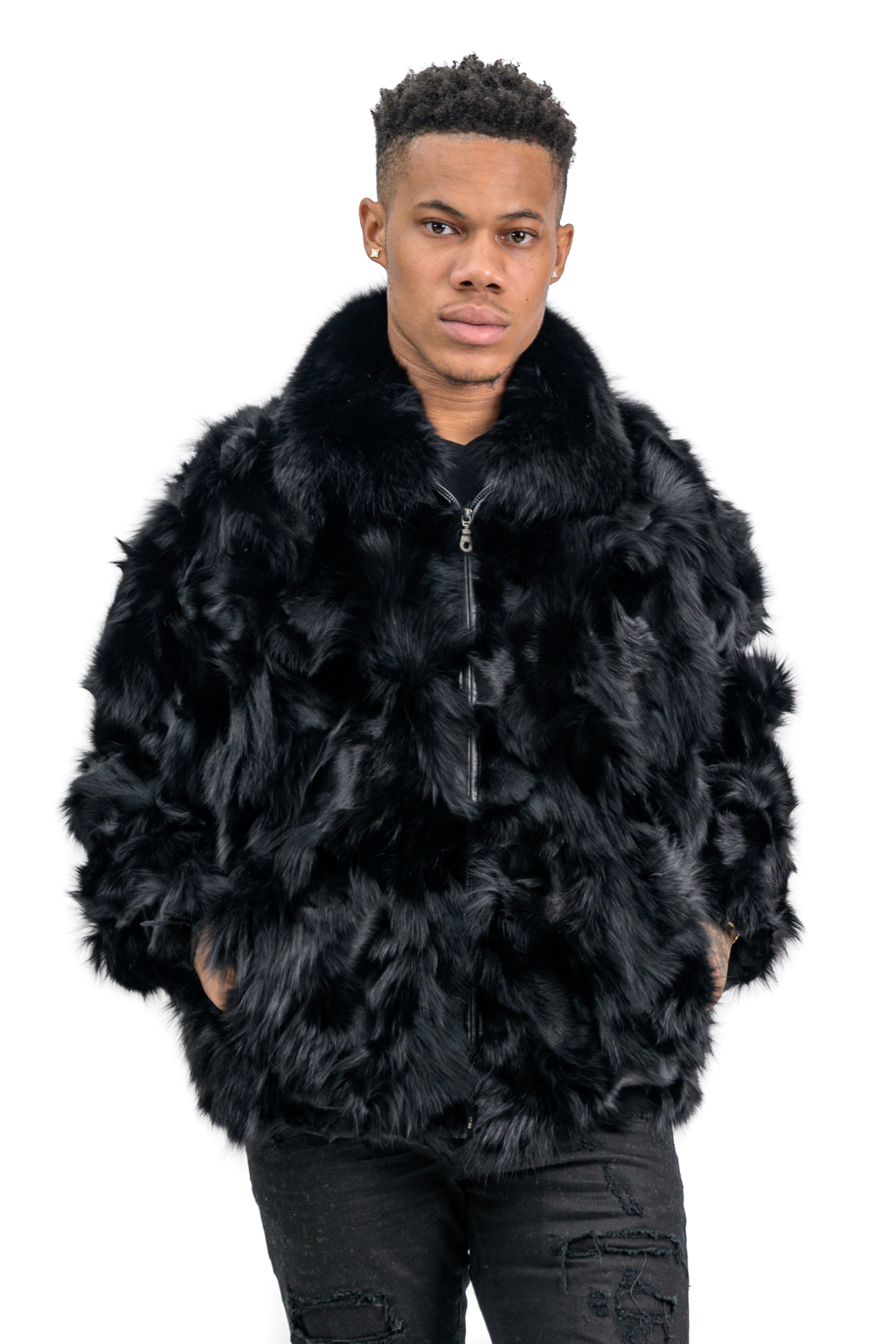 M26 2 Mans Fox Fur Sections Jacket