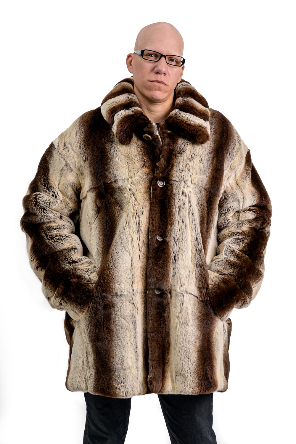 M35 2 Mans Rex Rabbit Fur Car Coat