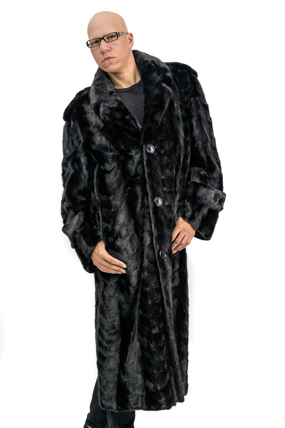 M6 2 Mans Mink Fur Coat