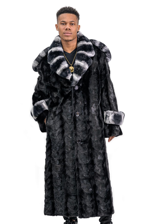 M9 2 Mink Fur Trench Coat