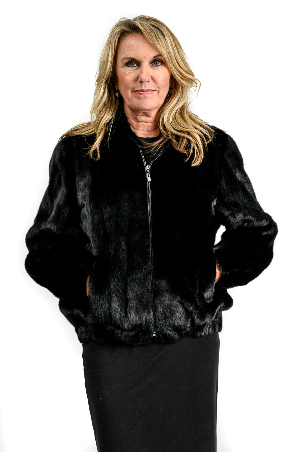 W14 2 Mink Fur Zip Jacket 1