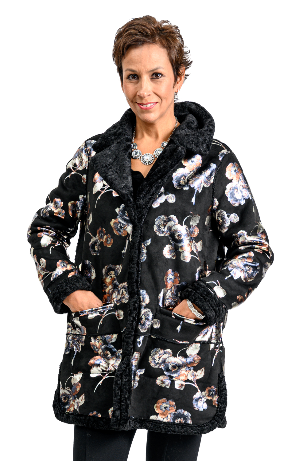 W43 2 Nikki Jones Faux Fur jacket