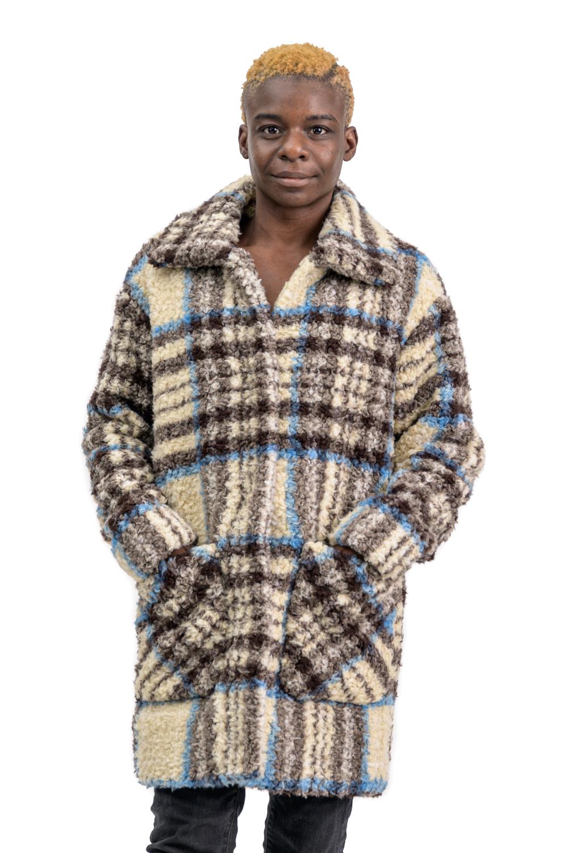 W44 2 Nikki Jones plaid coat